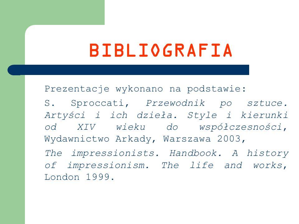 BIBLIOGRAFIA Prezentacje wykonano na podstawie:
