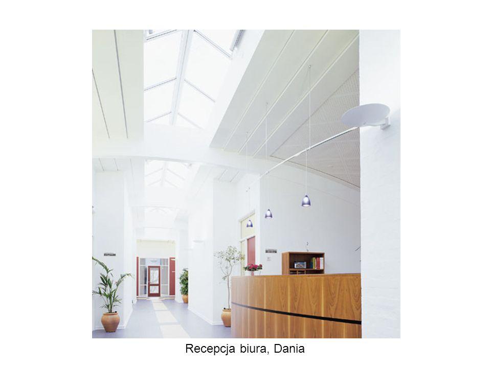 Recepcja biura, Dania