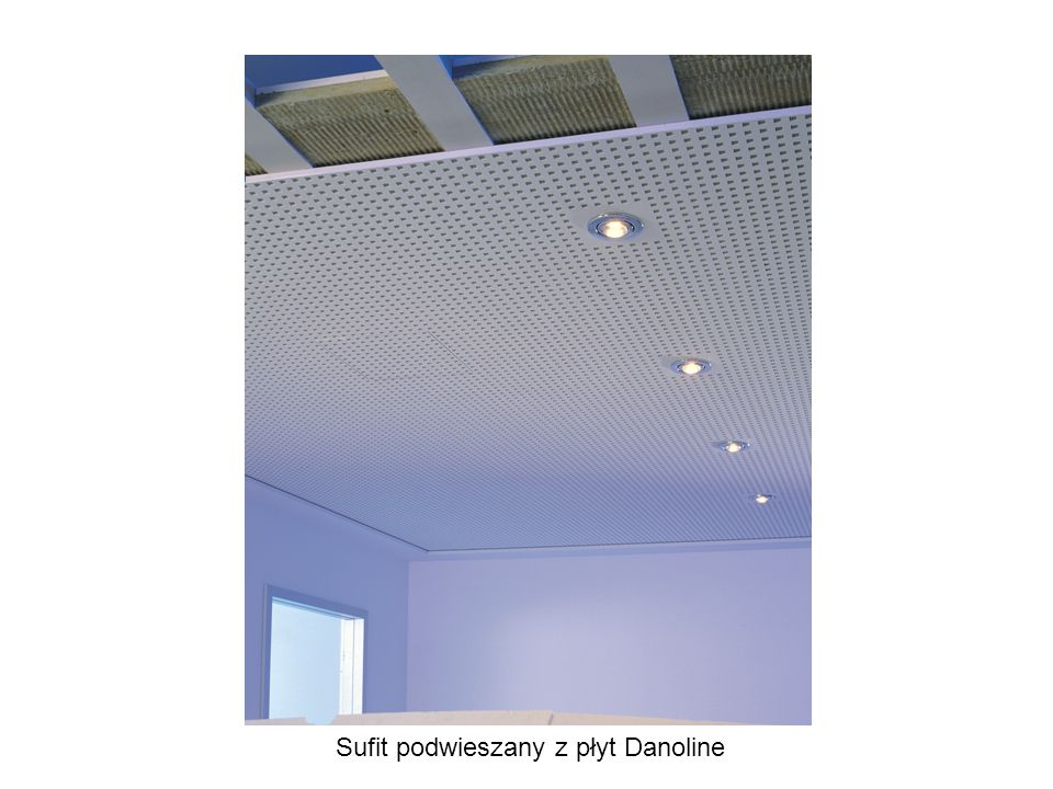 Sufit podwieszany z płyt Danoline