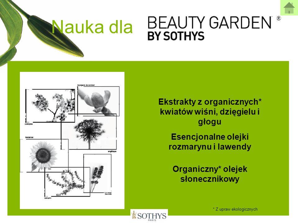 Nauka dla ® Ekstrakty z organicznych* kwiatów wiśni, dzięgielu i głogu