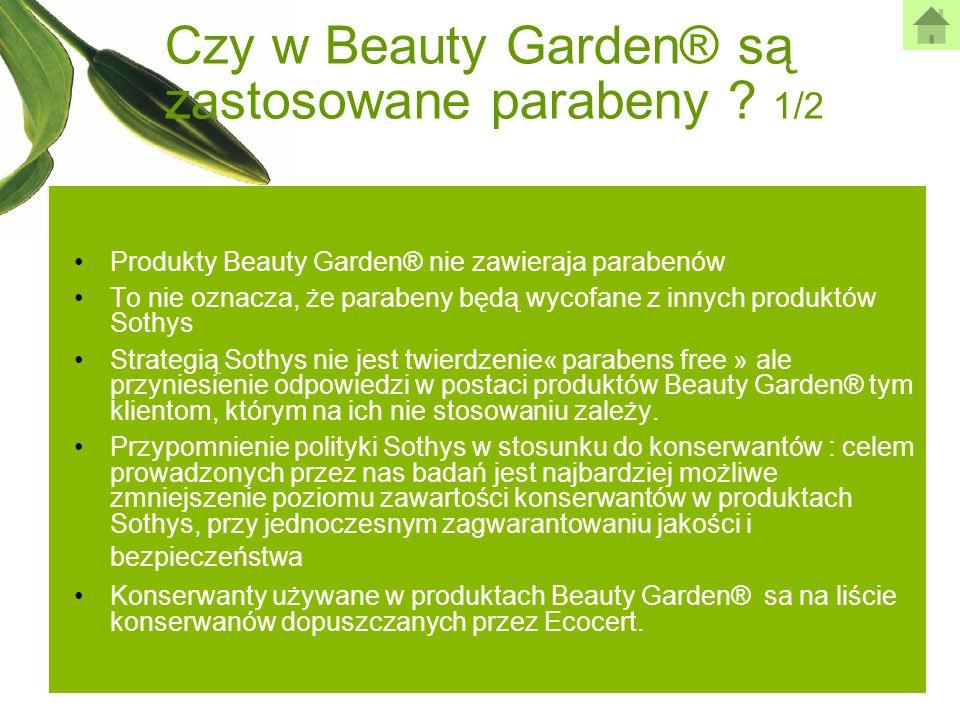 Czy w Beauty Garden® są zastosowane parabeny 1/2