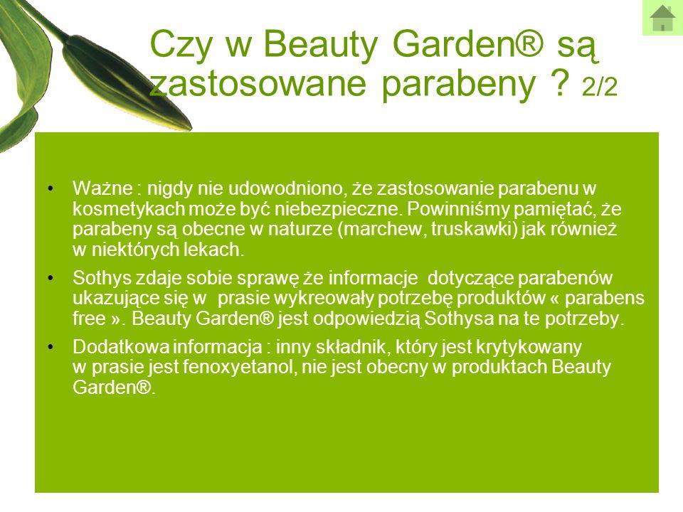 Czy w Beauty Garden® są zastosowane parabeny 2/2