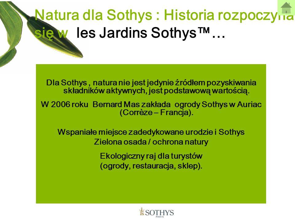 Natura dla Sothys : Historia rozpoczyna się w les Jardins Sothys™…