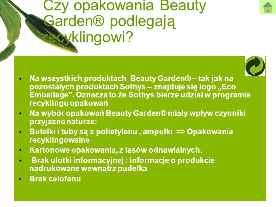 Czy opakowania Beauty Garden® podlegają recyklingowi