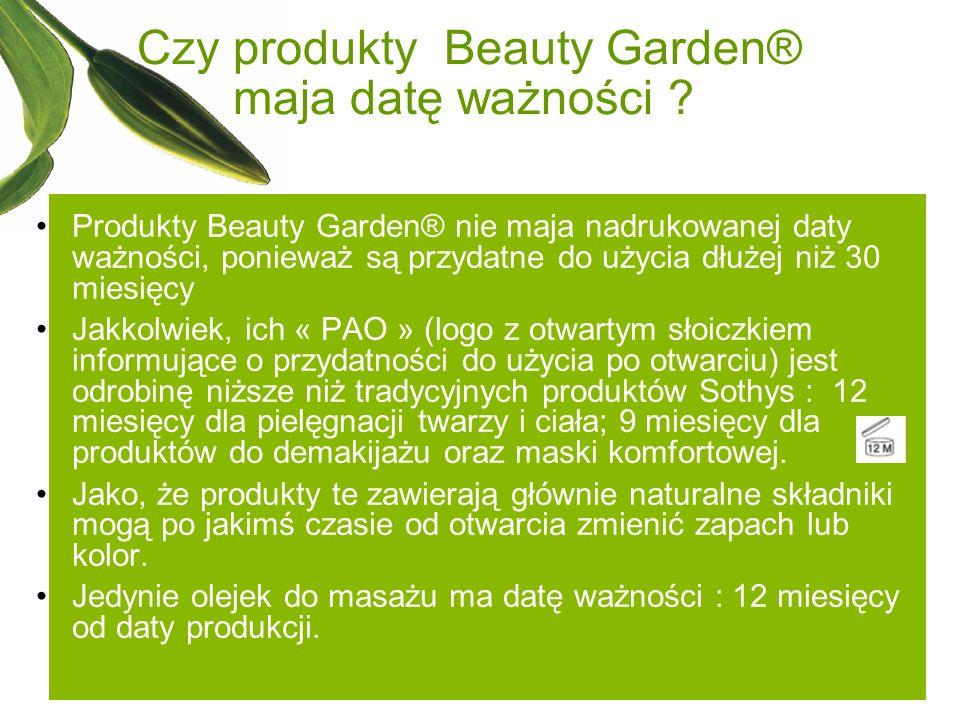 Czy produkty Beauty Garden® maja datę ważności
