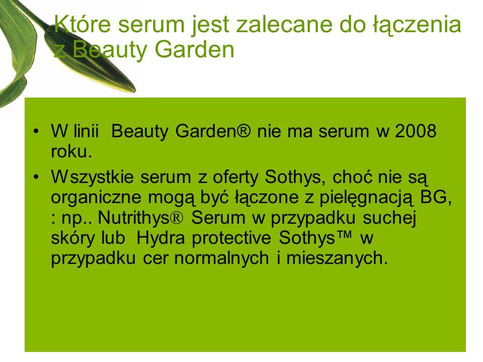 Które serum jest zalecane do łączenia z Beauty Garden