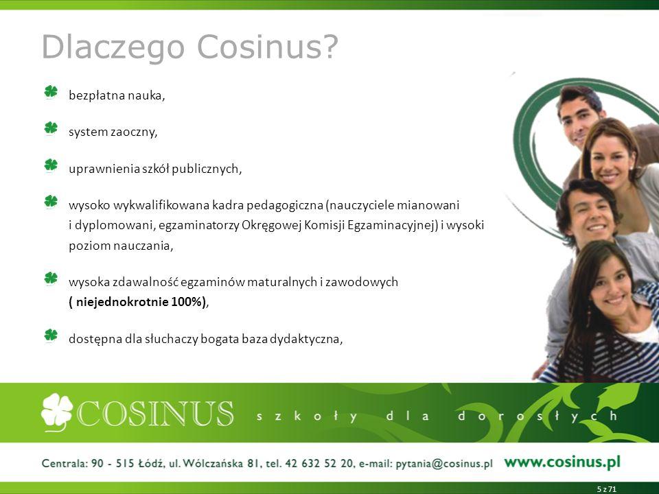 Dlaczego Cosinus bezpłatna nauka, system zaoczny,