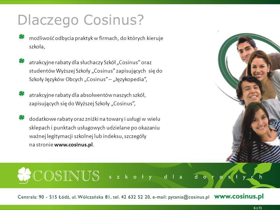 Dlaczego Cosinus możliwość odbycia praktyk w firmach, do których kieruje szkoła,