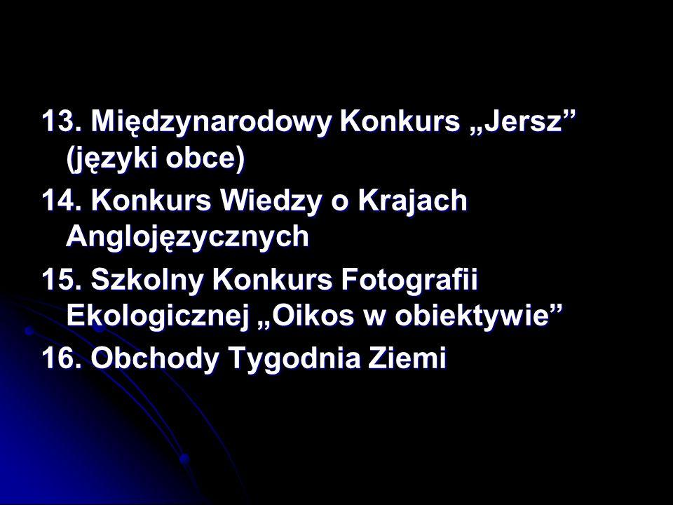 """13. Międzynarodowy Konkurs """"Jersz (języki obce)"""