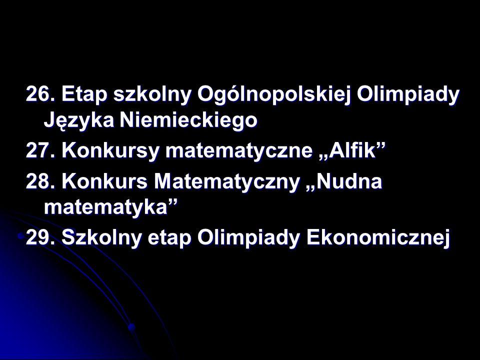 26. Etap szkolny Ogólnopolskiej Olimpiady Języka Niemieckiego