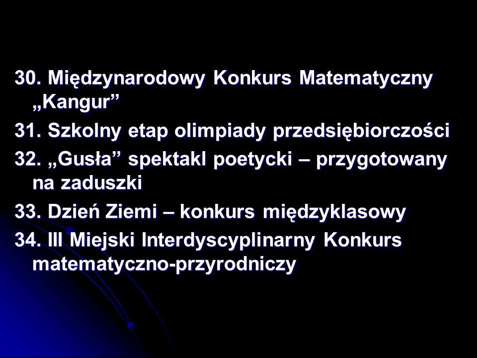 """30. Międzynarodowy Konkurs Matematyczny """"Kangur"""
