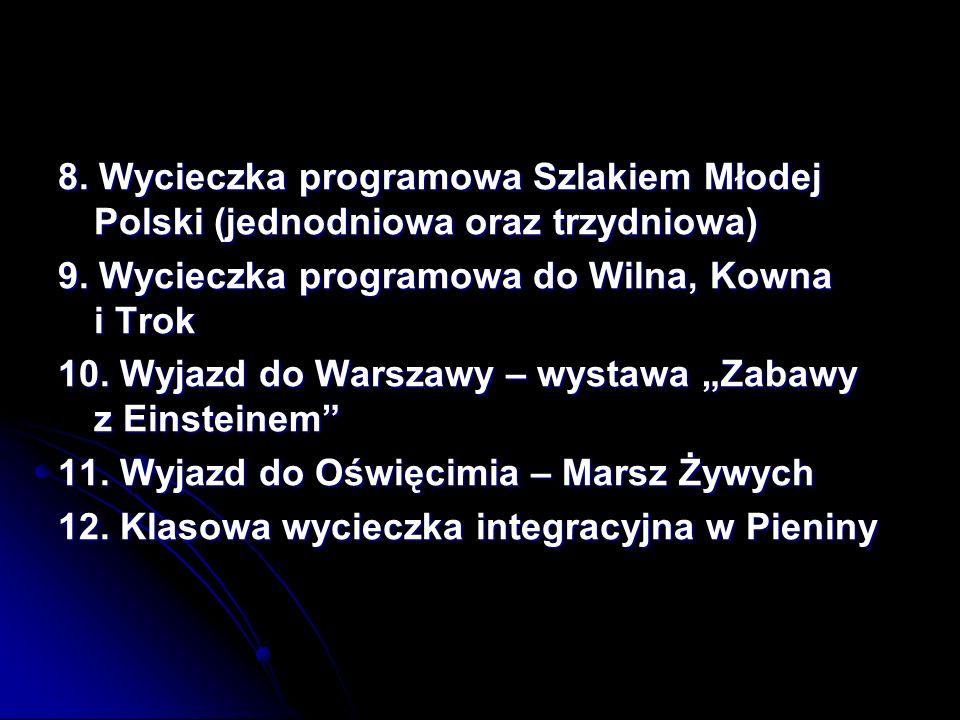 8. Wycieczka programowa Szlakiem Młodej Polski (jednodniowa oraz trzydniowa)