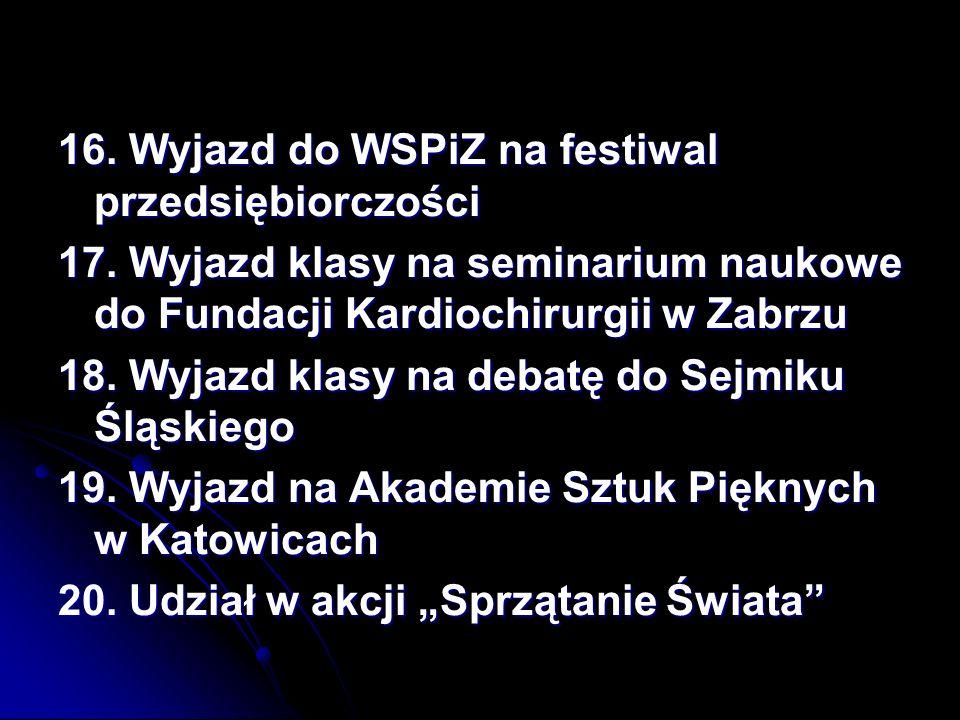 16. Wyjazd do WSPiZ na festiwal przedsiębiorczości