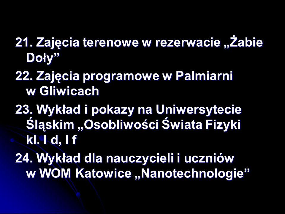 """21. Zajęcia terenowe w rezerwacie """"Żabie Doły"""