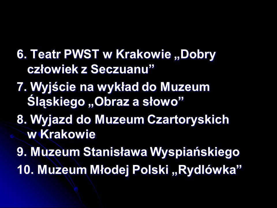 """6. Teatr PWST w Krakowie """"Dobry człowiek z Seczuanu"""