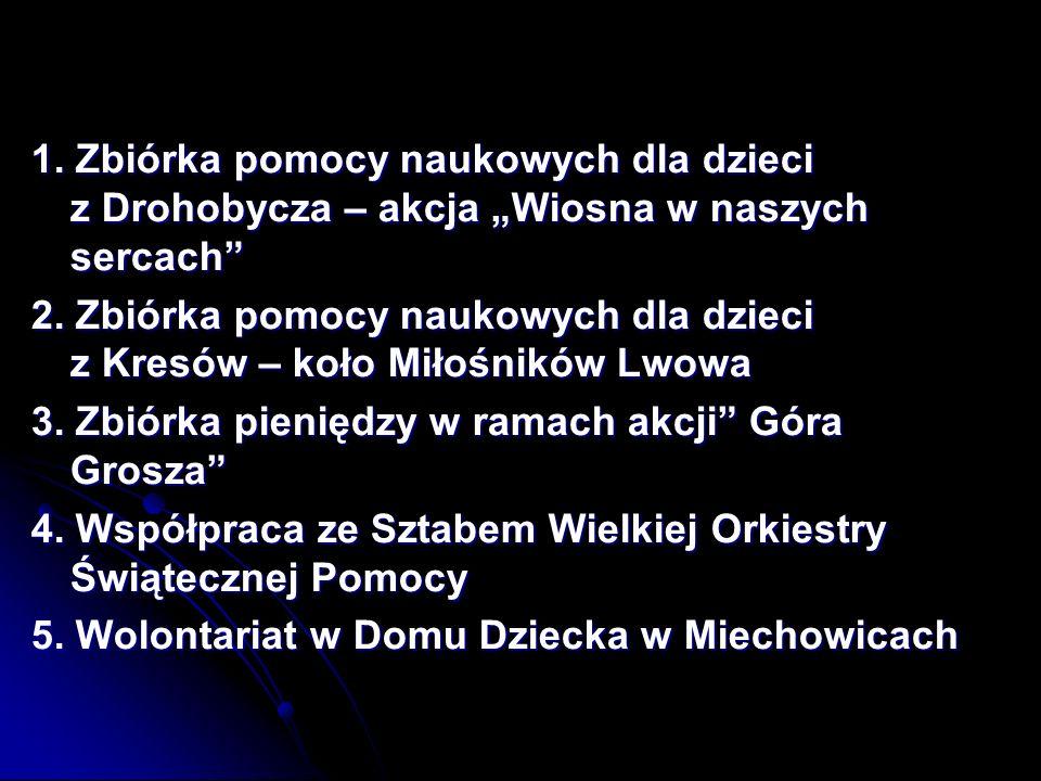"""1. Zbiórka pomocy naukowych dla dzieci z Drohobycza – akcja """"Wiosna w naszych sercach"""
