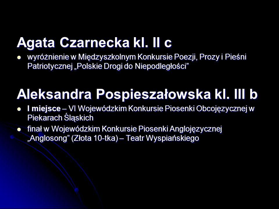 Aleksandra Pospieszałowska kl. III b