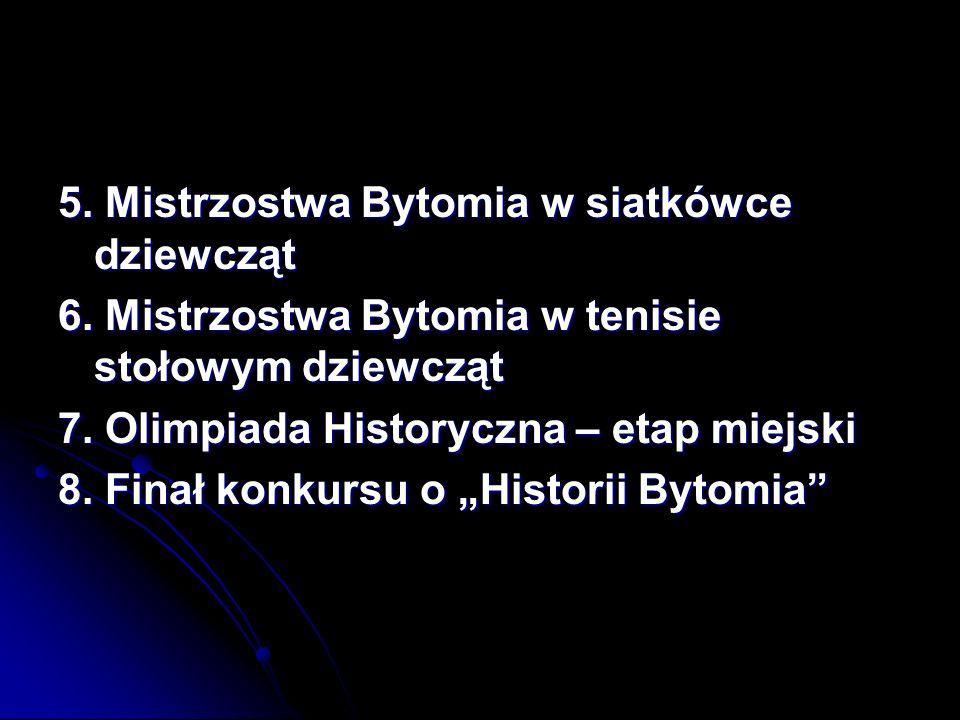 5. Mistrzostwa Bytomia w siatkówce dziewcząt