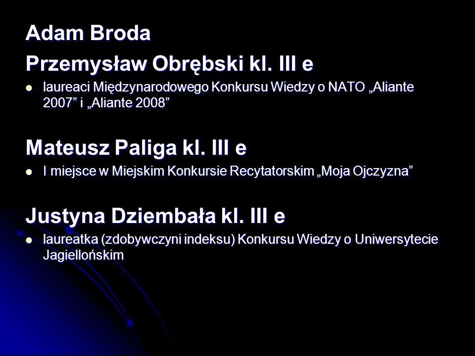 Przemysław Obrębski kl. III e