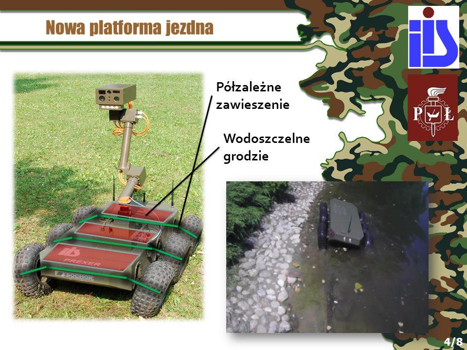 Nowa platforma jezdna Półzależne zawieszenie Wodoszczelne grodzie