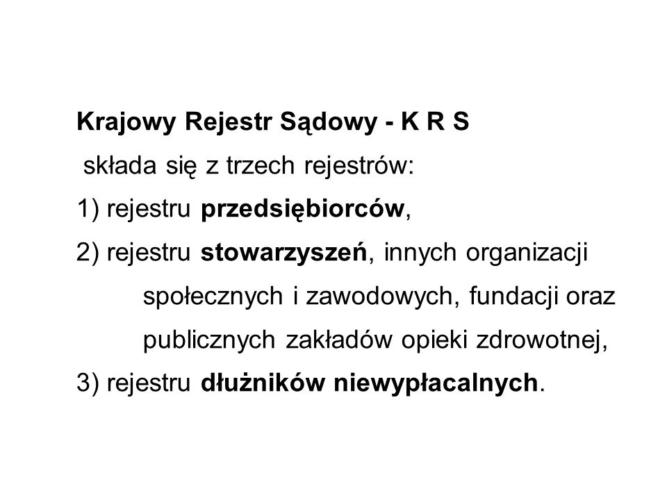 Krajowy Rejestr Sądowy - K R S
