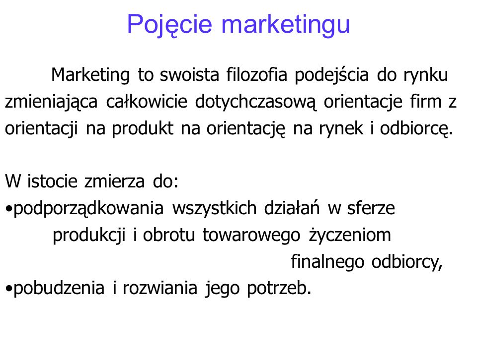Pojęcie marketingu