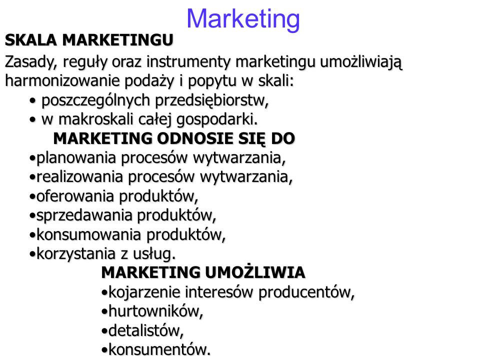 Marketing SKALA MARKETINGU