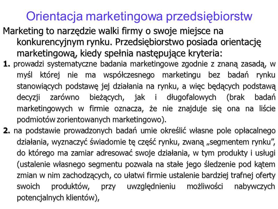 Orientacja marketingowa przedsiębiorstw