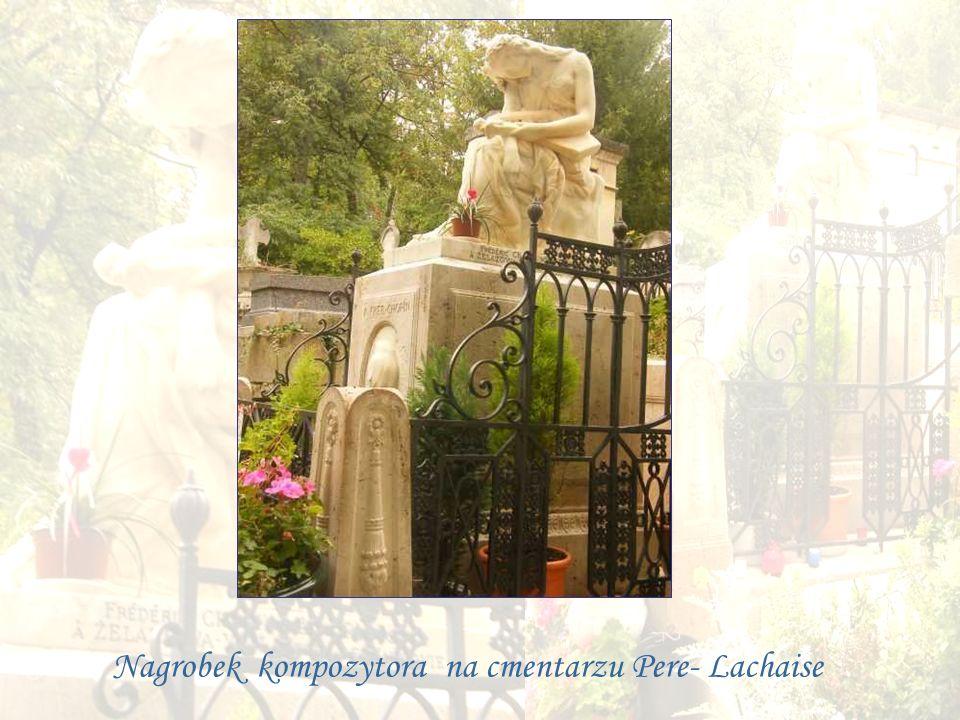 Nagrobek kompozytora na cmentarzu Pere- Lachaise