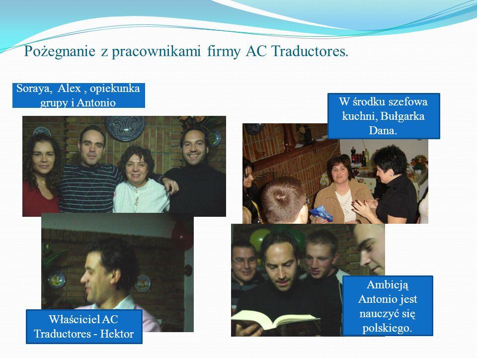 Pożegnanie z pracownikami firmy AC Traductores.