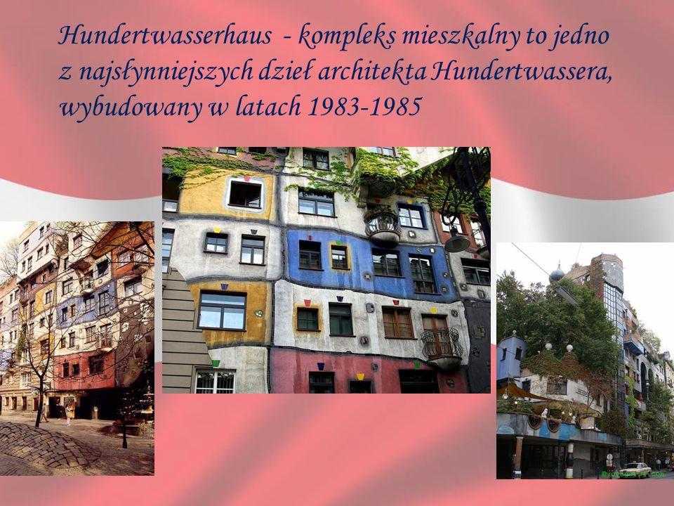 Hundertwasserhaus - kompleks mieszkalny to jedno