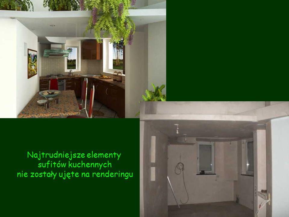 Najtrudniejsze elementy sufitów kuchennych