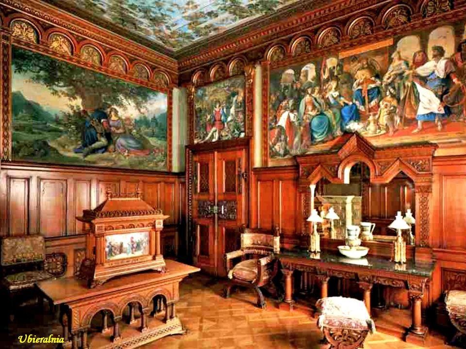 Ubieralnia Neuschwanstein bedroom Sypialnia Ludwika
