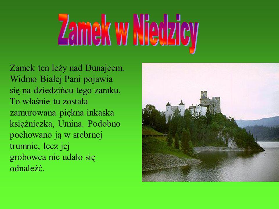 Zamek w Niedzicy Zamek ten leży nad Dunajcem.