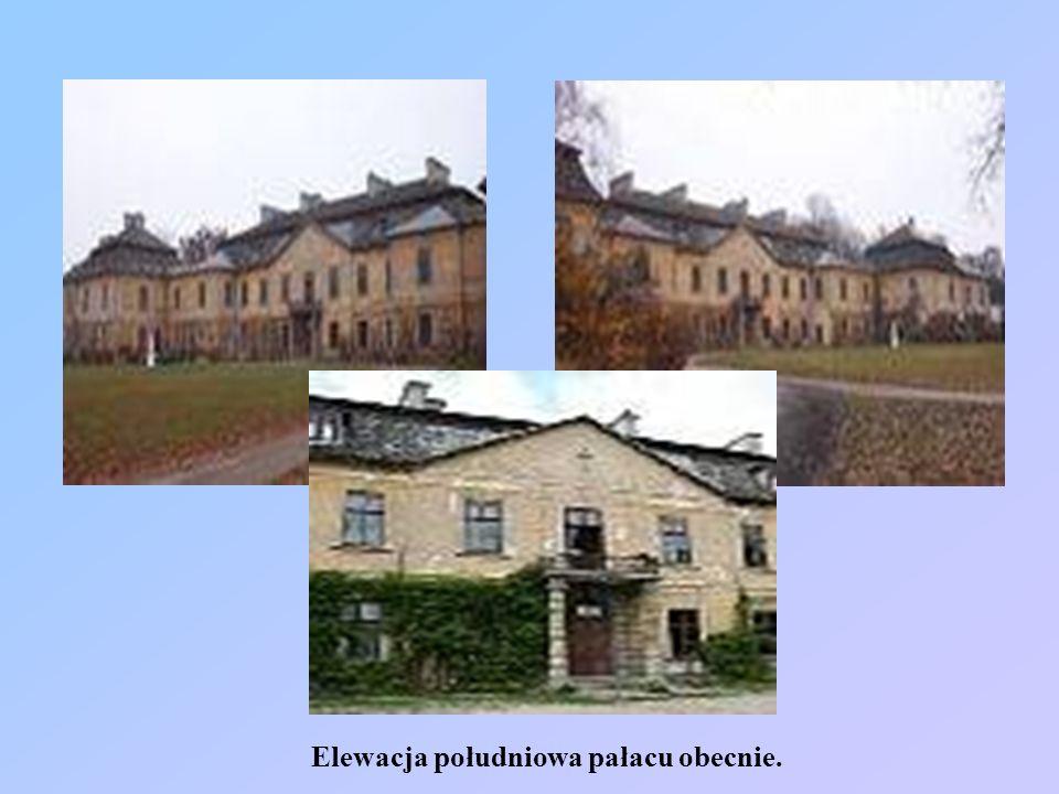 Elewacja południowa pałacu obecnie.