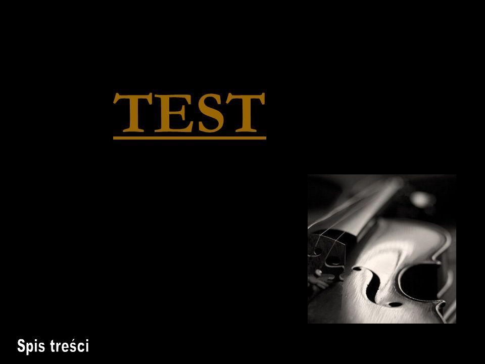 TEST Spis treści