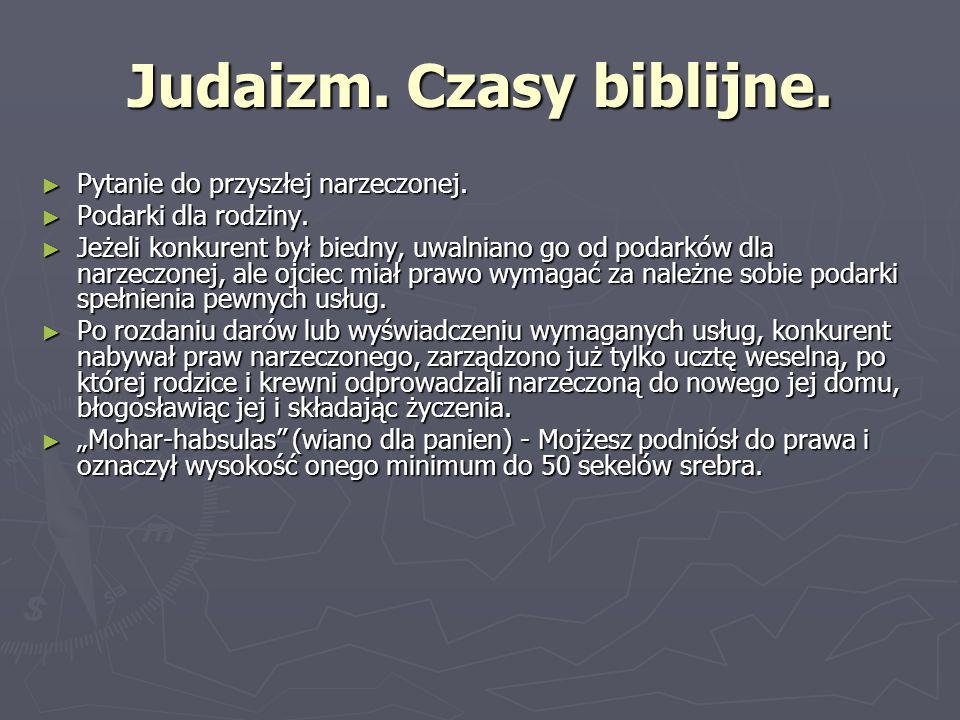 Judaizm. Czasy biblijne.