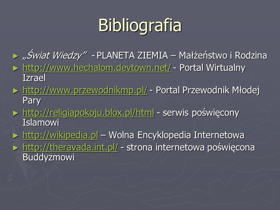 """Bibliografia """"Świat Wiedzy - PLANETA ZIEMIA – Małżeństwo i Rodzina"""