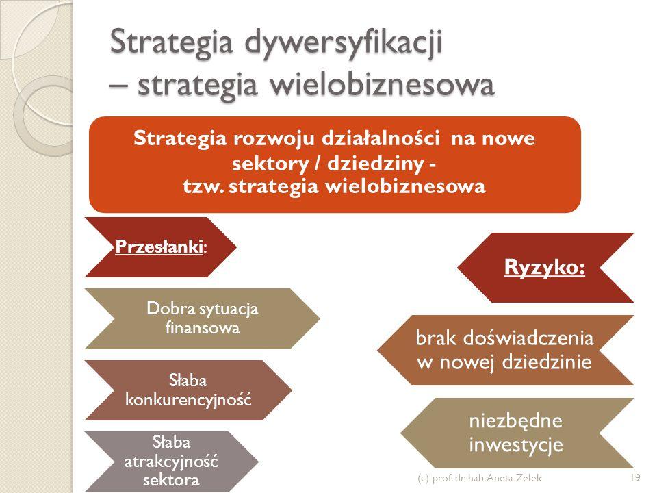 Strategia dywersyfikacji – strategia wielobiznesowa
