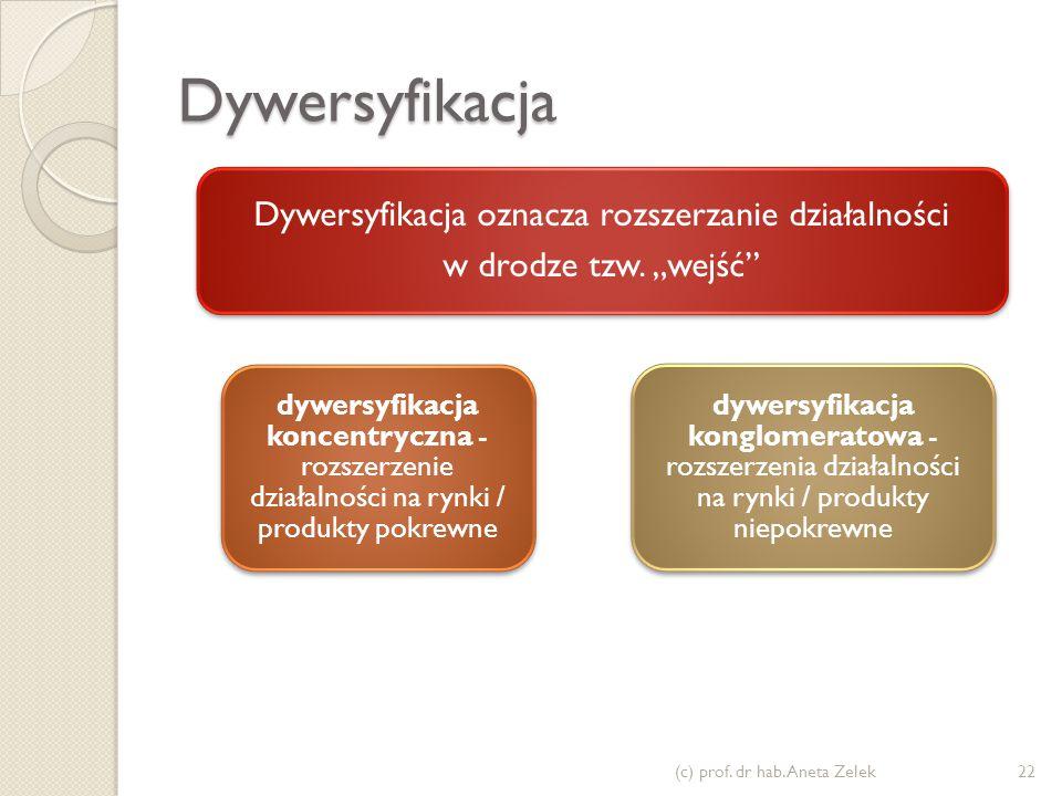 Dywersyfikacja oznacza rozszerzanie działalności