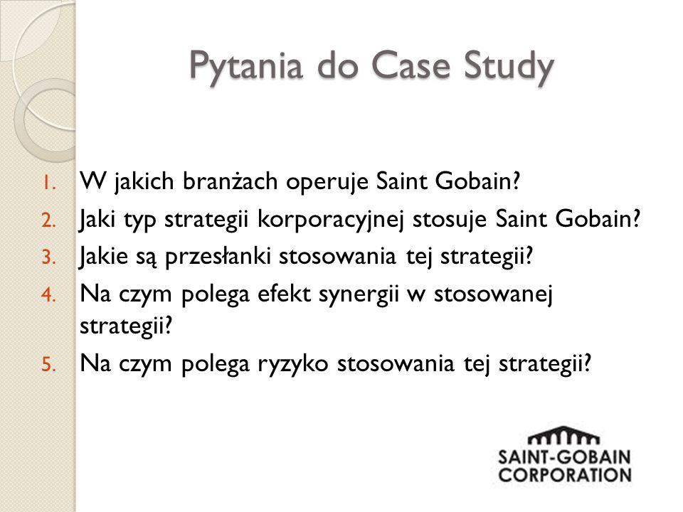 Pytania do Case Study W jakich branżach operuje Saint Gobain