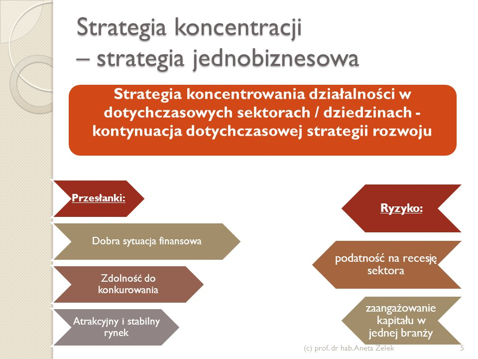 Strategia koncentracji – strategia jednobiznesowa