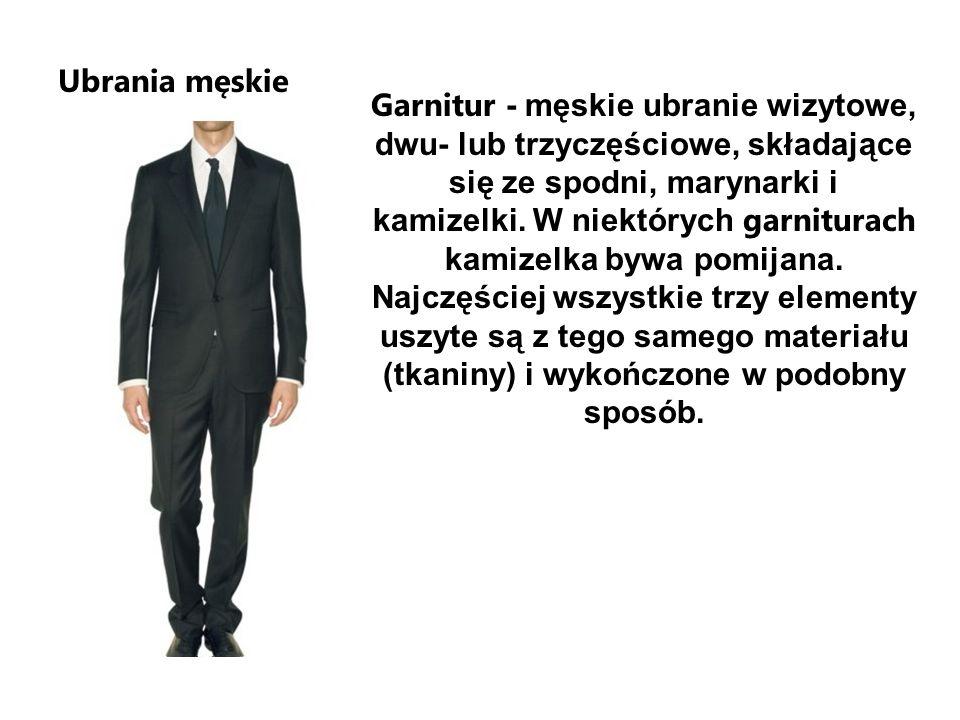 Ubrania męskie