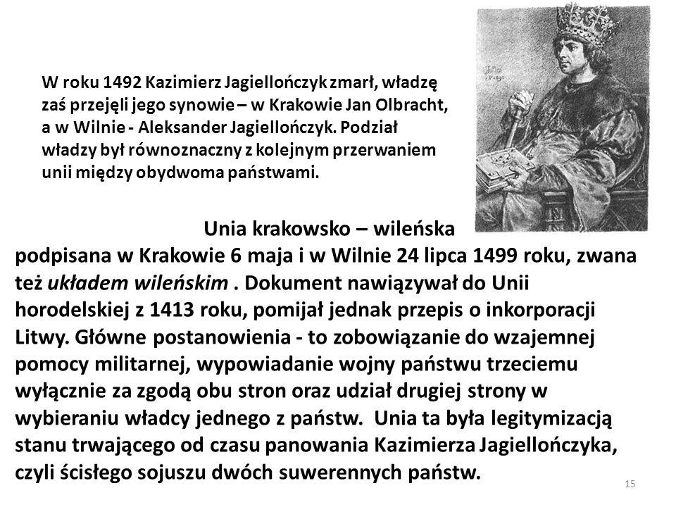 Unia krakowsko – wileńska