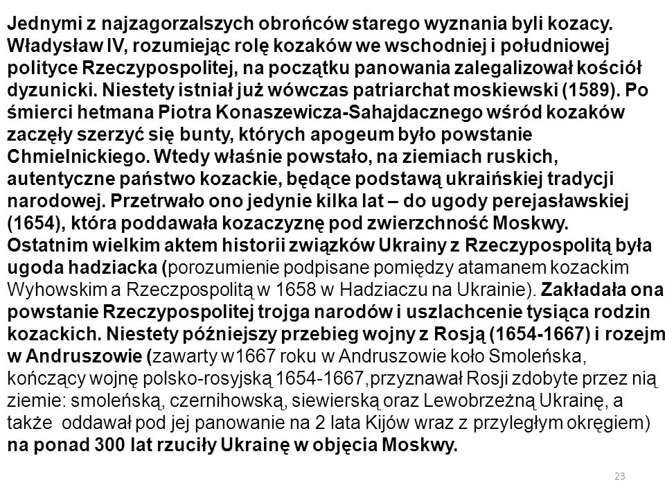 Jednymi z najzagorzalszych obrońców starego wyznania byli kozacy