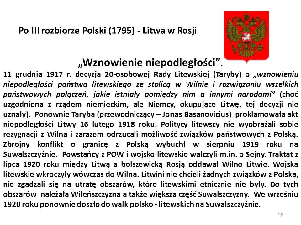 """""""Wznowienie niepodległości ."""