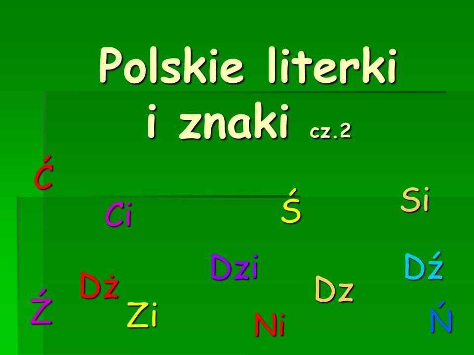 Polskie literki i znaki cz.2