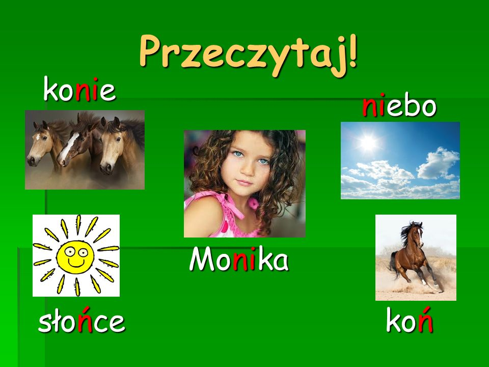 Przeczytaj! konie niebo Monika słońce koń
