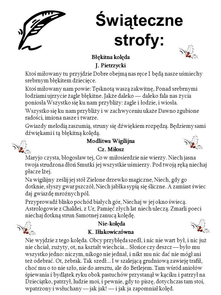 Świąteczne strofy: Błękitna kolęda J. Pietrzycki
