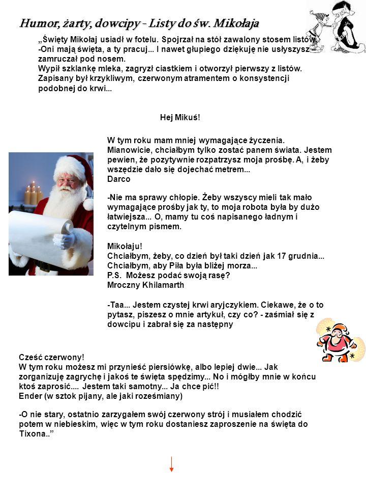 Humor, żarty, dowcipy - Listy do św. Mikołaja